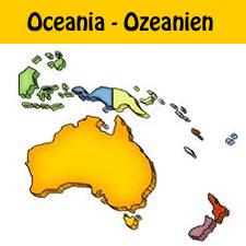 German Vocabulary: Oceania Countries in German
