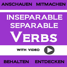 Inseparable and Separable Verbs with Video