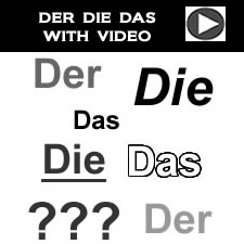 The German articles der, die and das - with video