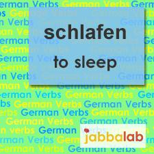 The German verb schlafen - to sleep