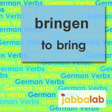 The German verb bringen - to bring