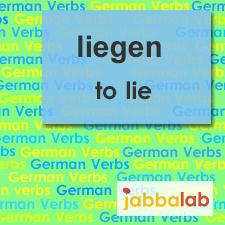 The German verb liegen - to lie