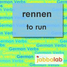 The German verb rennen - to run