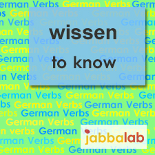The German verb wissen - to know