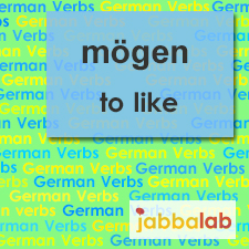 The German verb mögen - to like