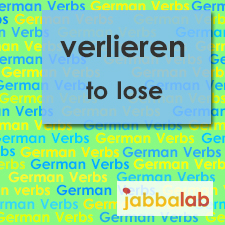 The German verb verlieren - to lose
