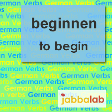 The German verb beginnen - to begin