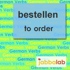 The German verb bestellen - to order