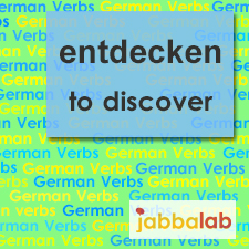 The German verb entdecken - to discover
