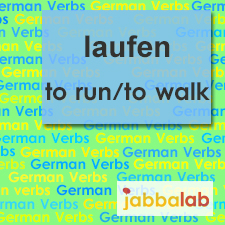 The German verb laufen - to walk, to run