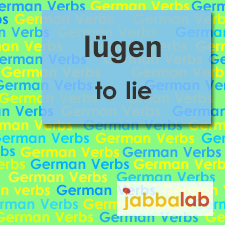 The German verb lügen - to lie