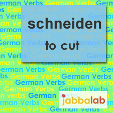 The German verb schneiden - to cut