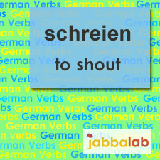The German verb schreien - to shout