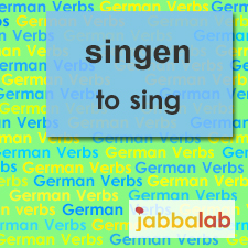 The German verb singen - to sing