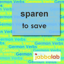 The German verb sparen - to save