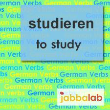 The German verb studieren - to study