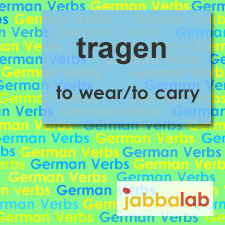 The German verb tragen - to wear, to carry
