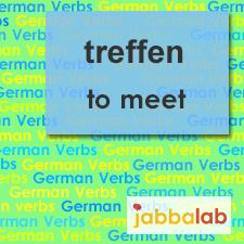 The German verb treffen - to meet