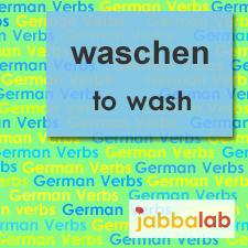 The German verb waschen - to wash