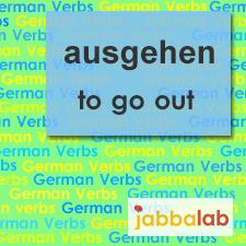 The German verb ausgehen - to go out