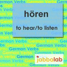 The German verb hören - to hear/to listen