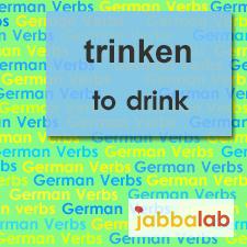 The German verb trinken - to drink