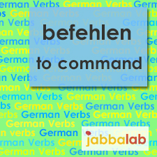 The German verb befehlen - to order/to command