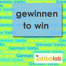 The German verb gewinnen - to win