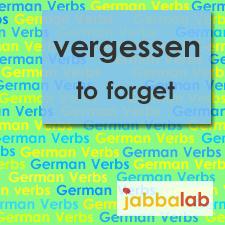 The German verb vergessen - to forget