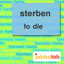 The German verb sterben - to die
