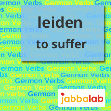 The German Verb leiden - to suffer