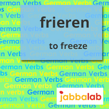 The German Verb frieren - to freeze