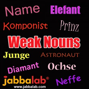 German Weak Nouns