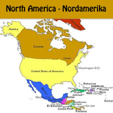 German Vocabulary: North American Countries in German