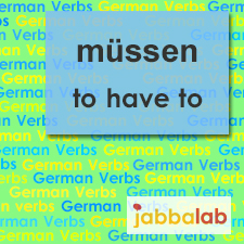 The German verb müssen - to have to