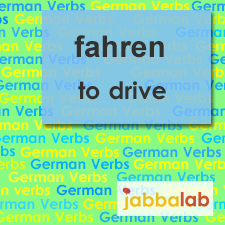 The German verb fahren - to drive