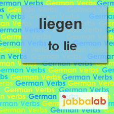 The German verb liegen - to lie