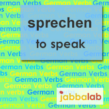 The German verb sprechen - to speak