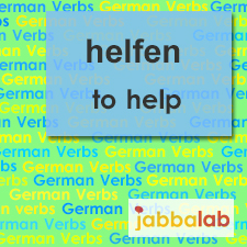 The German verb helfen - to help