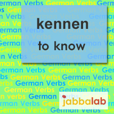 The German verb kennen - to know