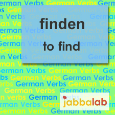 The German verb finden - to find