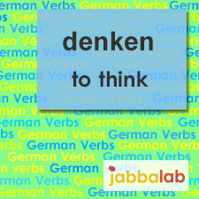 The German verb denken - to think