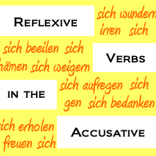 German Reflexive Verbs in the Accusative Case