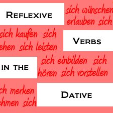 German Reflexive Verbs in the Dative Case