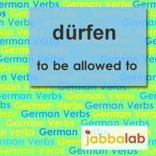 The German verb dürfen - to be allowed to