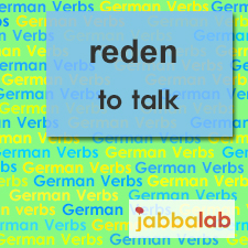 The German verb reden - to talk
