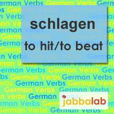 The German verb schlagen - to hit/to beat
