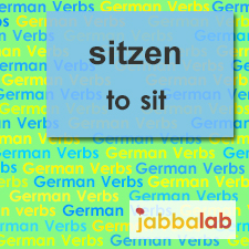 The German verb sitzen - to sit