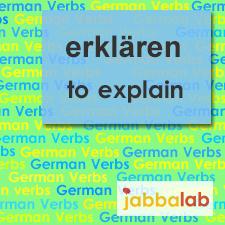 The German verb erklären - to explain