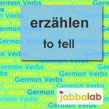 The German verb erzählen - to tell